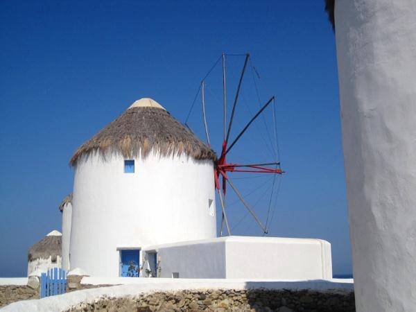 Mykonos windmills by Averil