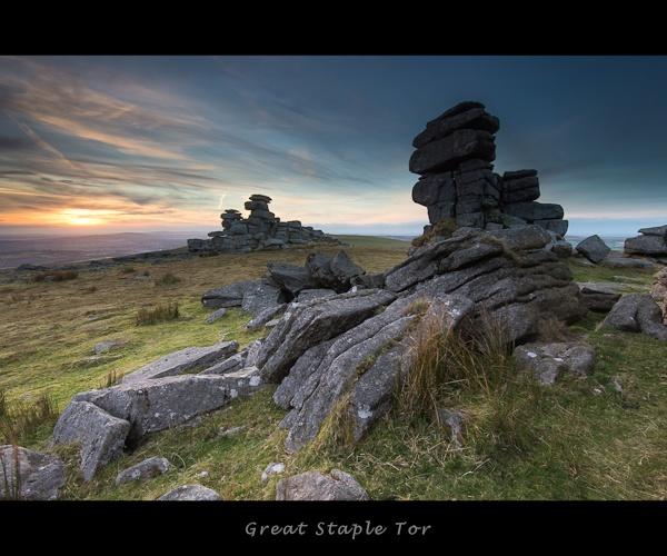 Great Staple Tor Sunset by ChrisInDevon