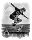 Skateboarding High Jump