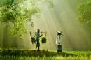 Farmer Couple by Rarindra