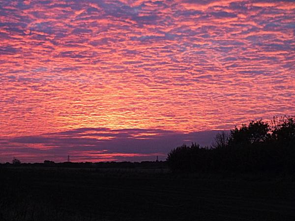 Sunset Over Cambridgeshire by crissyb
