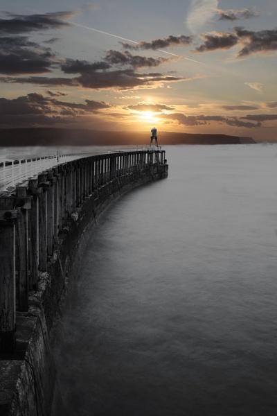 Whitby West Pier by brianaskew