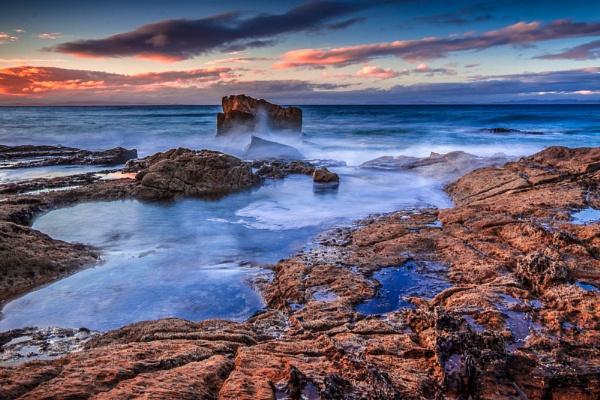 Sunset at Hopeman Bay by John_Frid