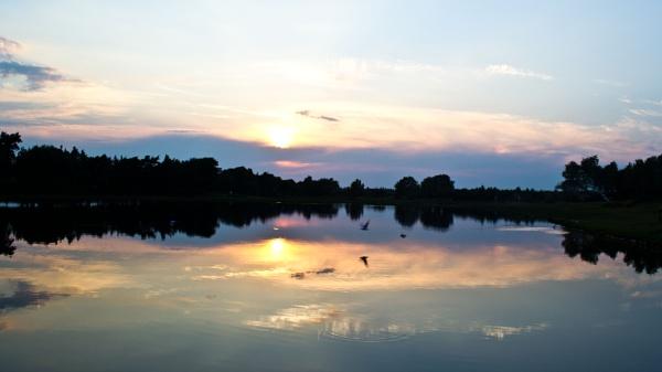 Sunset over Hatchett Pond by Ian01