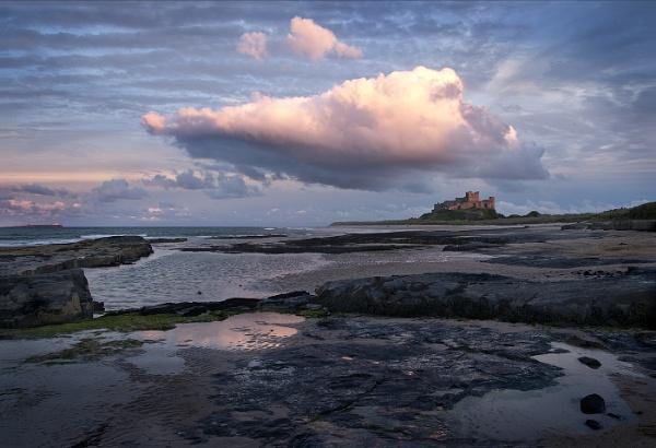 Bamburgh Castle Sunset by KatyJ