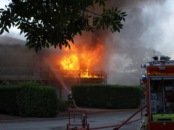 Fire at Maran, France by JuBarney