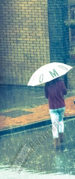 Walking in the rain by Bingsblueprint