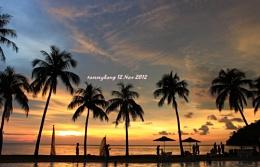 Sunset at Pangkor Island Beach Resort , Malaysia