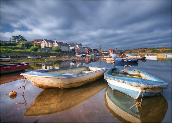 Blue Boats by RockArea
