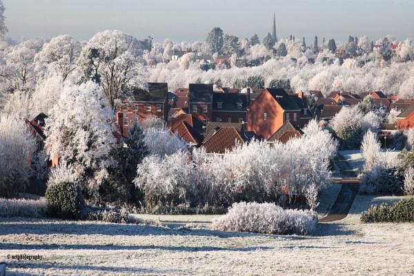 Hoar Frost over Bromsgrove. by Nigel7