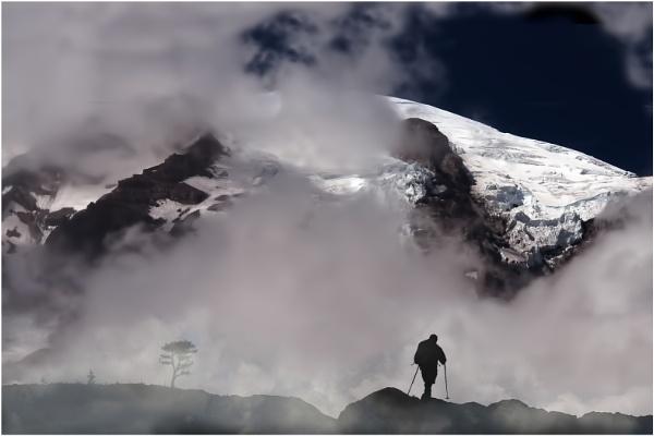 Hiking Mount Rainier by Fotofunguy