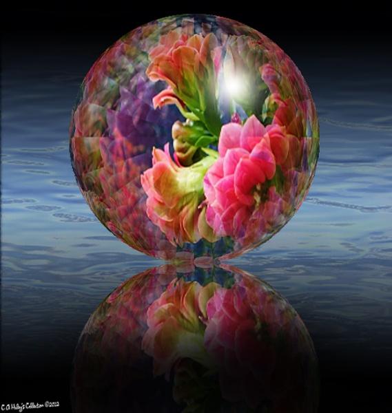Flowers in a Globe by Humblebee