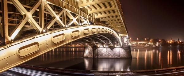 Margit Bridge by Laaacaa