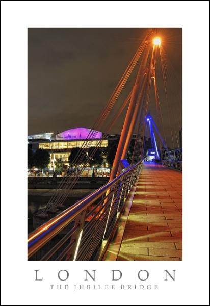 The Jubilee Bridge by Night by hawk