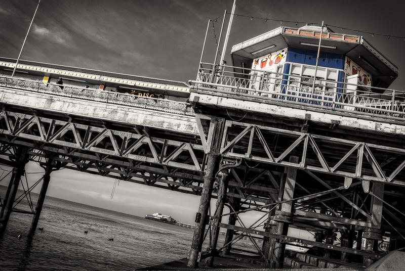 New slant on pier