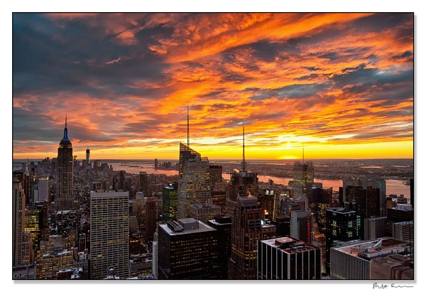 Sunset at the \'Top of the Rock\' by Strax