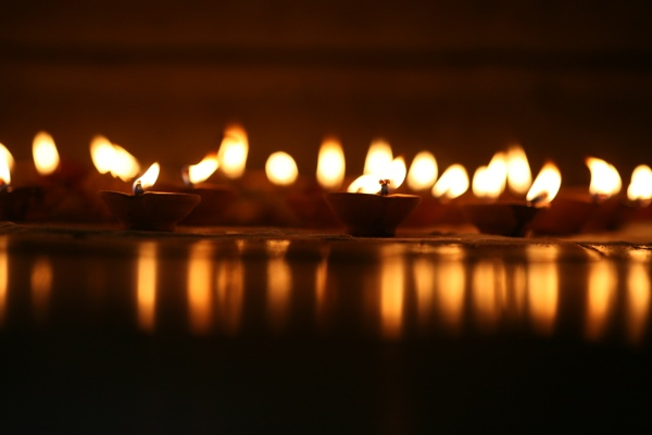 Reflection of Oil Lamps by bglimaye