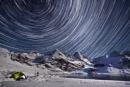 Star Trails over the Harker Glacier