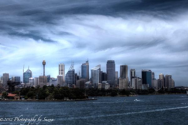 Wild Skies Over Sydney by PhotographyBySuzan