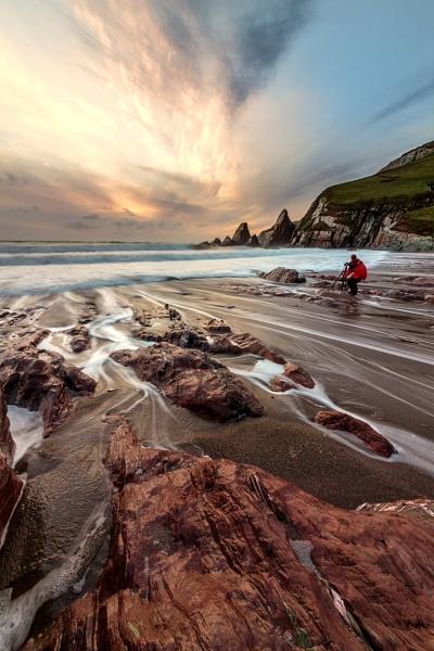 Westcombe Beach Sunset by andyfox