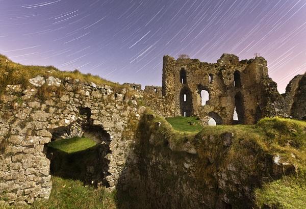 Roches Castle Star Trails by garymcparland