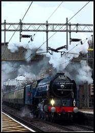 Steam train passing through Marks Tey