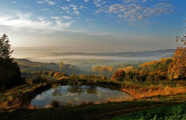 Pond near Eguilly, Burgundy by Gourdon
