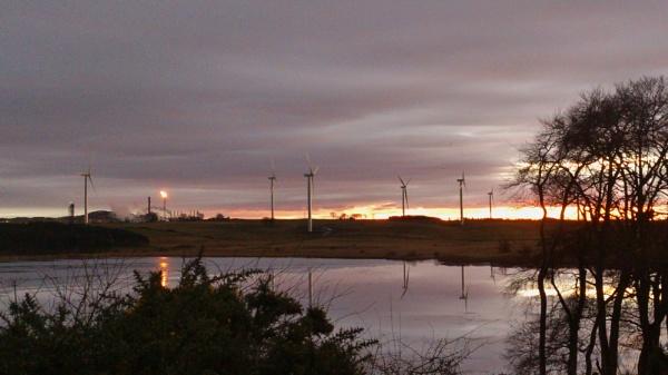 Mossmorran Flaring at Sunset by kaylesh