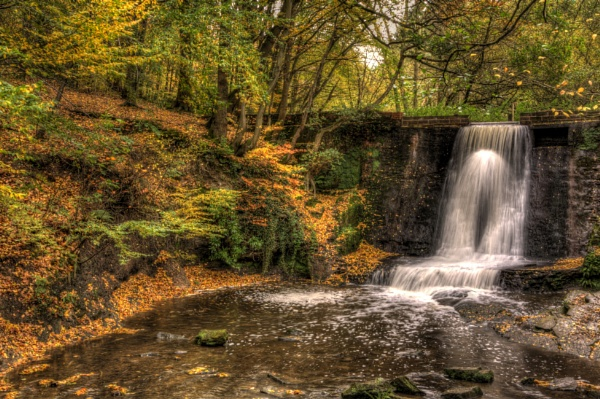Wepre Park Waterfall by nfw