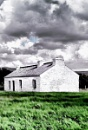 Traditional whitewashed, cottage, Donegal