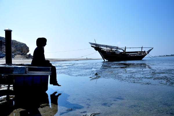 lady with boat by soorajnelladan