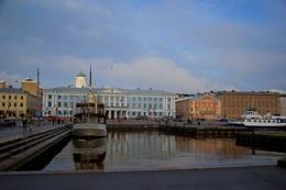 Harbor of Helsinki in autumn