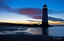 "Talacre Lighthouse,  ""As the Sunsets into the Blue Hour"""