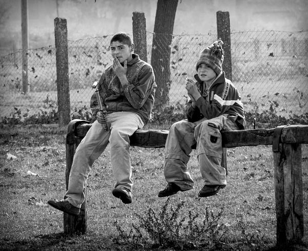 Young smokers by GoranStamenkovic