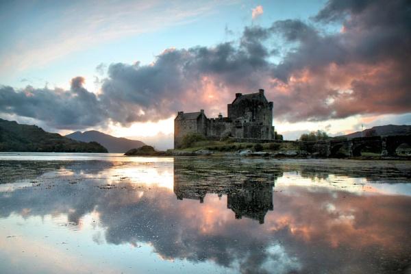 castle sunset by davidcollins