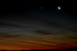 Mercury,Venus and the Moon 11/12/12