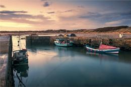 Beadnell Harbour Sunset
