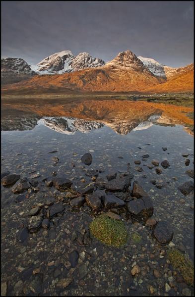 Loch Slapin dawn by pink