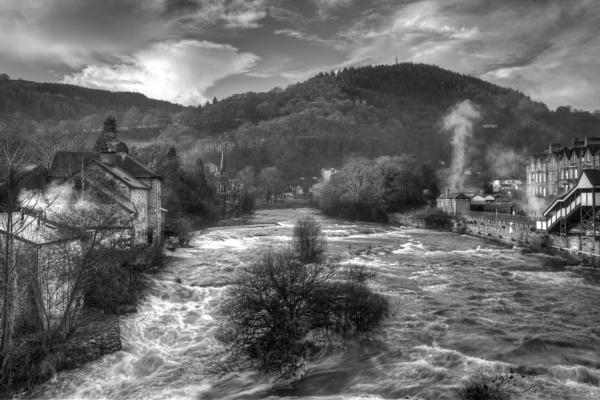 "\""View from Llangollen Bridge\"" by razorraymac"