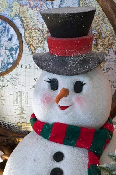 snow man celebrates christmas by malaysiaguy