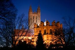 Canterbury Cathederal at dusk