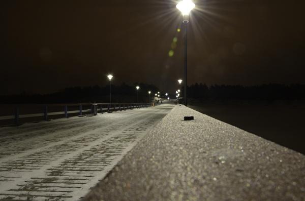 Bridge at night by Marioks