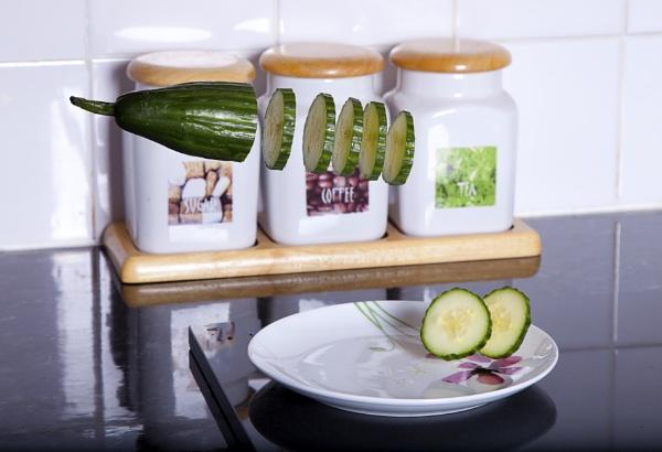 Sliced Cucumber by BobbyK