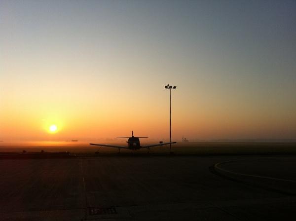 Misty Morning at RAF Marham by Cyclone