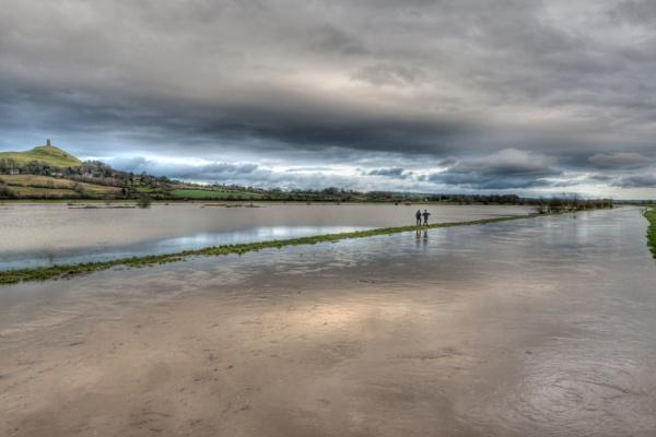 Floods around Glastonbury by livinglevels