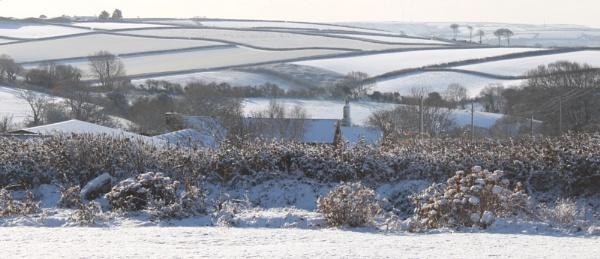 a snowy Devonshire landscape by pancho1892
