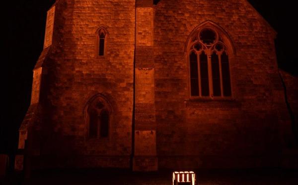 Church at night by Alda