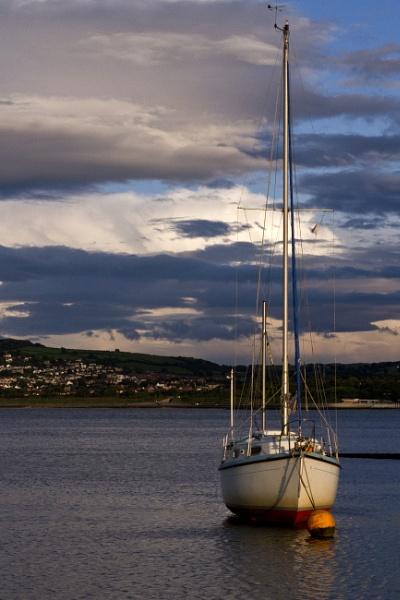 Moored alone Colwyn Bay by boov