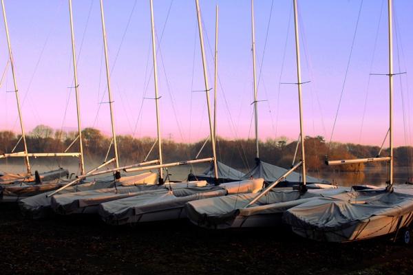 autumn boat yard by Satiny