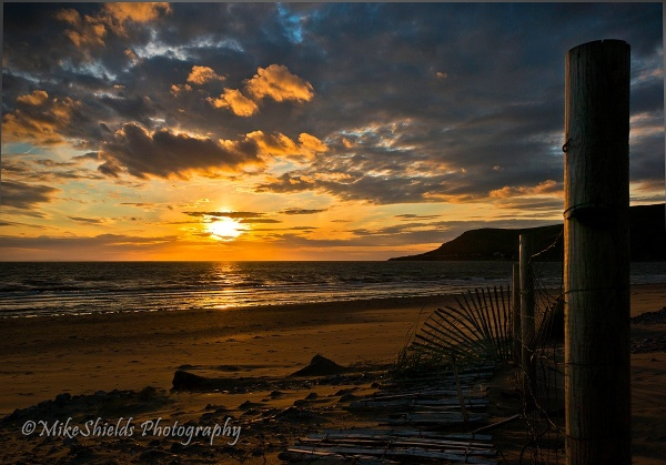 Sunset Fence by MikeShieldsPhotography